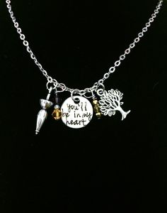 You'll Be In My Heart Tarzan Disney Inspired Charm Necklace $23.00