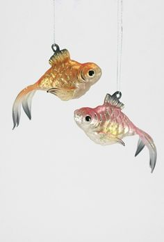 Fancy Fish ornaments - (seashore, beach, ocean, coastal Christmas)