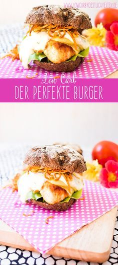 Der perfekte Low Carb Chicken Burger mit Knoblauchmayonnaise und Pastinaken Fries www.lowcarbkoestlichkeiten.de - the perfect low carb burger #lowcarb #glutenfrei