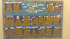 Tower of Babel Craft- stack pieces of red and brown paper like bricks then write verse from lesson- R10