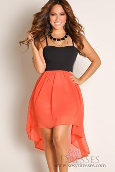 Sexy Black Bustier and Coral High Low Dress.  This website has a ton of cute inexpensive clothes