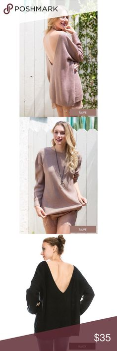 Deep V Sweater - Taupe Boutique brand 75% Acrylic 25% Mohair  Oversized fit Feel free to ask me any questions Thanks for browsing my closet! Happy Poshing Sweaters V-Necks