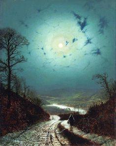 """Moonlight"" by John Atkinson Grimshaw, 1871"