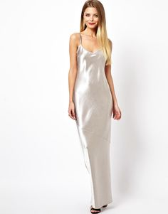 Image 1 of ASOS Crepe Satin Cami Maxi Dress