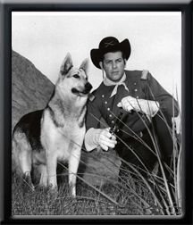 "Rin Tin Tin - IV with James Brown as Lt. Ripley Rip Masters in ""The Adventures of Rin Tin Tin"". Awesome movie!!"