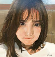 Cool Anime Girl, Pretty Anime Girl, Anime Art Girl, Digital Portrait, Portrait Art, Painting Portraits, Manga Cute, Girly Drawings, Art Inspiration Drawing