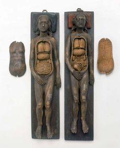 18.) 17th century anatomical models.