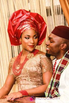 igbo bride and groom - love the color and simplicity of her dress. Nigerian Bride, Nigerian Weddings, African Girl, African Beauty, African Style, Igbo Bride, Igbo Wedding, Traditional Wedding Attire, Marriage Day