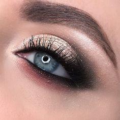 Glowing eye makeup - Bronze makeup #makeup #eyemakeup