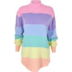Buy UNIF Frost Pastel Rainbow High Neck Jumper Online | Spoiled Brat