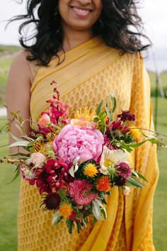 Beautiful Indian Half Moon Bay Golf Links Wedding in California // SimoneAnne.com