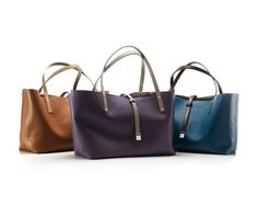 Reversible leather totes from Tiffany & Co.