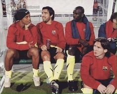 The legendary bench of Barcelona Fc Barcelona, Messi, Football Quotes, Rey, Real Madrid, Legends, Soccer, Marvel, Club
