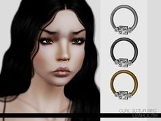 Cube Septum Ring by LeahLillith - Sims 3 Downloads CC Caboodle