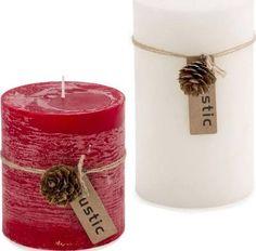 block candles - rustic look is nice, beiges, Reds Rustic Candles, Pillar Candles, Nice, Red, Christmas, Xmas, Weihnachten, Yule, Jul