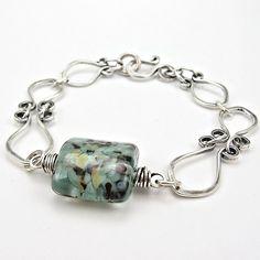 HandForged Sterling Wirework Bracelet Artisan by OzmayDesigns, $69.00