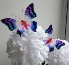 ❤ 3D Paper Butterflies PINK PETER RABBIT Pack of 12 Handmade table decorations ❤