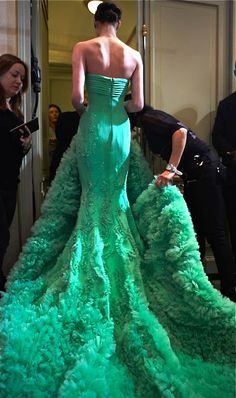 Nuances de Chic  (via Georges Hobeika in Green Couture · Inspiration by Color)