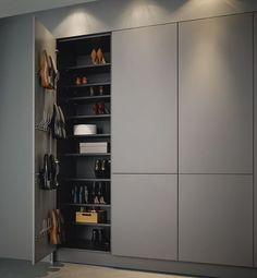 high cupboards for shoes for example in the pantry Graploss with tipon cabinet shoebox is part of Hall wardrobe - Hall Wardrobe, Wardrobe Door Designs, Wardrobe Design Bedroom, Built In Wardrobe, Closet Designs, Closet Bedroom, Master Bedroom, Shoe Closet, Ideas Armario
