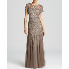 Adrianna Papell Gown - Short Sleeve Embellished and other apparel, accessories and trends. Browse and shop related looks.