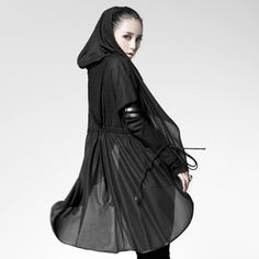 Cloak in gothic style. Punk Rave, Cloak, Gothic Fashion, Diy Clothes, Female, Jackets, Trench, Dresses, Autumn