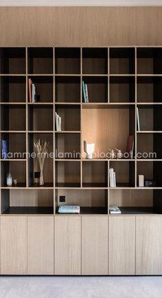 New wood architecture interior bookshelves ideas Creative Bookshelves, Bookshelf Design, Bookshelf Ideas, Bookcase, Home Office Design, Interior Design Living Room, House Design, Built In Furniture, Furniture Design