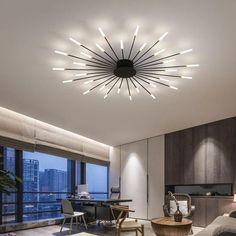 Modern Led Ceiling Lights, Led Ceiling Lamp, Chandelier Bedroom, Led Chandelier, House Fan, Grandma's House, Cheap Pendant Lights, Nordic Home, Home Lighting