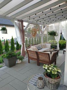 Small Patio Spaces, Outdoor Spaces, Outdoor Living, Garden Entrance, Garden Gazebo, Outdoor Pergola, Outdoor Decor, Gazebos, Cinder Block Garden