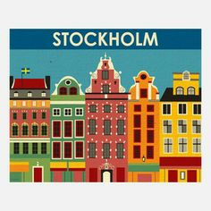 Stockholm Print from Karen Young, Owner and Artist, Loose Petals, $20, now featured on Fab.