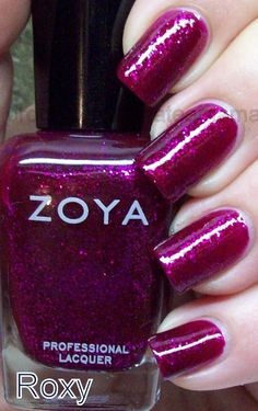 Zoya Roxy - the most beautiful dreamy sparkly nail polish I would very much appreciate if I could get for my birthday... or any kind of Zoya will do :))))
