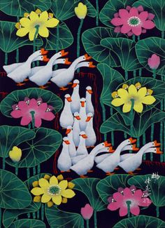 Geese - Chinese Folk Art Painting