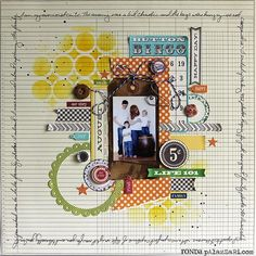 "Ronda Palazzari using the Balzer Designs ""Wonky Circles"" stencil"