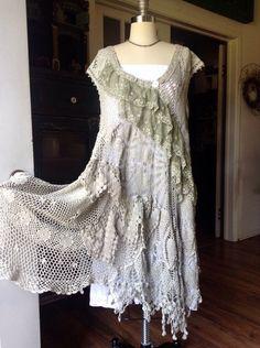 Luv Lucy Croche dress /tunic Lucys Spring by LuvLucyArtToWear