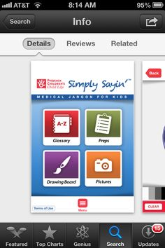 An app available for Apple devices to help explain medical procedures to kids! Awesome!!! Download!!!