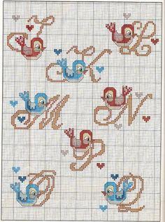 Letters w/birds