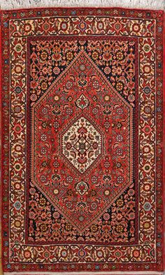 "Bijar Persian Rug, Buy Handmade Bijar Persian Rug 2' 7"" x 4' 3"", Authentic Persian Rug $378.25"