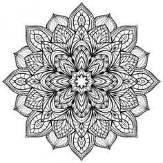 Vektör grafik mandala beyaz arka plan üzerinde izole. Gotik mimarisinin stilize unsurları. Dövme taslağını