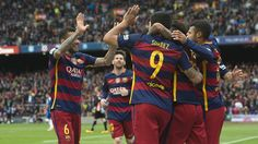 Players celebrate another big win against Espanyol / VÍCTOR SALGADO - FCB