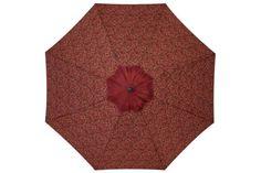 Newbury 8.25 Ft. Patio Umbrella Red Patio Shade, Pvc Coat, Market Umbrella, Burgundy, Red, Wine Red Hair, Amaranth Grain