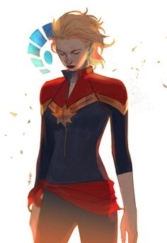 Captain Marvel by axeeeee More