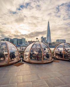 Glass igloos by the Thames  London United Kingdom. Photo by @tmnikonian Places To Travel, Travel Destinations, Places To Visit, Holiday Destinations, London Eye, London England, Event Guide, London Clubs, Voyage Europe