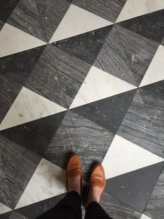 French Moderne Manor - Finish Work - Alice Lane Home Interior Design Floor Design, Tile Design, House Design, Design 24, Design Trends, Mini Bad, Alice Lane Home, Black And White Tiles, Black And White Flooring
