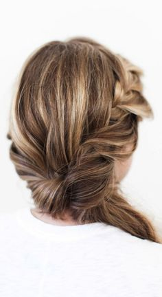 Side twisted braid