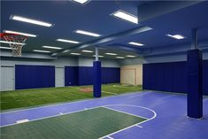 Utah house that has an indoor tennis court interior for Basement sport court