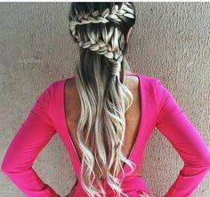 Love the hair braids 😍 Braided Hairstyles, Wedding Hairstyles, Cool Hairstyles, Hair Looks, Blonde Hair, Hair Makeup, Makeup Pics, Piercings, Fashion Beauty