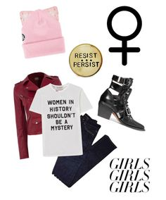 """""""Untitled #44"""" by elliwhit ❤ liked on Polyvore featuring Silver Spoon Attire, Yves Saint Laurent, Être Cécile, Chloé, womensHistoryMonth, pressforprogress and GirlPride"""