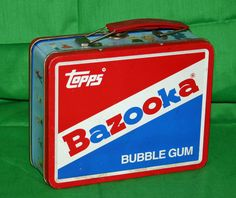 GOG (good old gum) Vintage Lunch Boxes, Cool Lunch Boxes, Whats For Lunch, Out To Lunch, School Memories, Childhood Memories, Bazooka Bubble Gum, Penny Candy, School Lunch Box