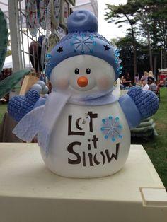 Snowman -- Ceramic Snowman Lamp -- Christmas Decor -- Winter Decor -- Christmas Gift