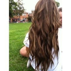 Long Light Brown Hair ❤ liked on Polyvore featuring hair