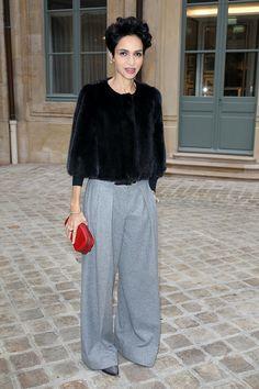 Farida Khelfa at Schiaparelli - Paris Couture Spring/Summer 2014